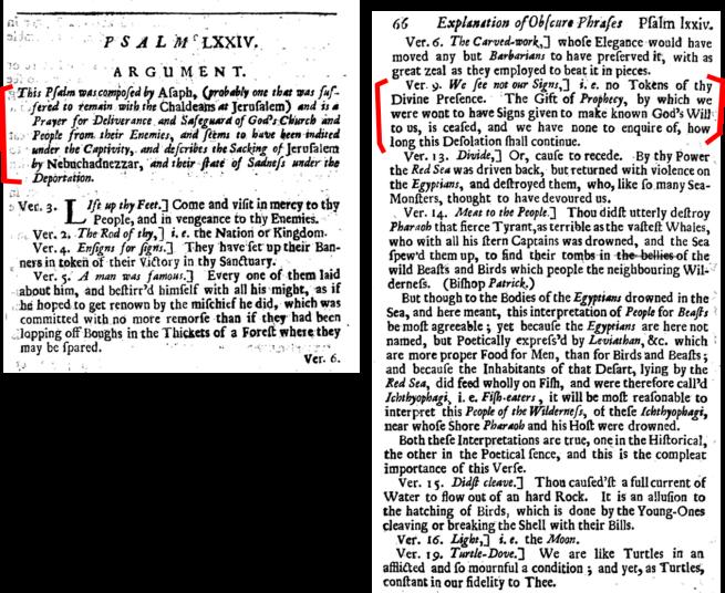 bishop patrick on psalm 74 Obscure Phrases Psalms 1702 google