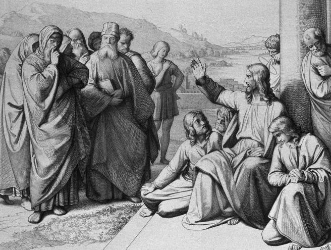 Christ-admonishes-pharisess-FA-Ludy-JF-Wellcome-etching-zoom