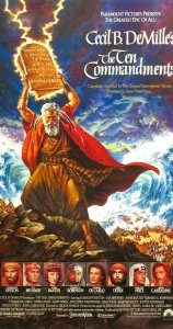 Charlton Heston Moses Cecil B Demille Ten Commandments poster