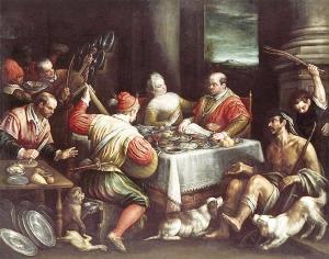 Dives-Lazarus Leandro Bassano 1595