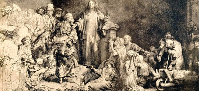 Jésus-Christ Guérissant les Malades, print from photographer Bisson Frères, 1858, Getty Museum.
