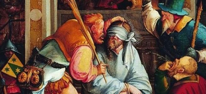 Jesus Mocked Mathis Gothart Grünewald Alte Pinakothek Munich