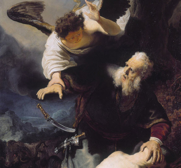 Rembrant 1636.  Abraham Sacrifice of Isaac with Angel.