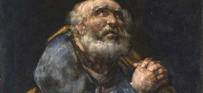 Goya's painting of Repentant Peter, Praying